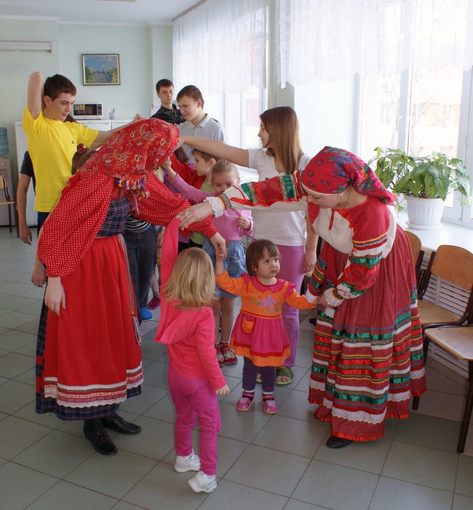 Детские игры на Масленицу в СОККД