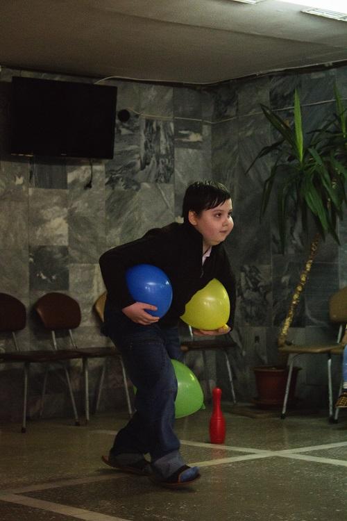Бег с воздушными шариками